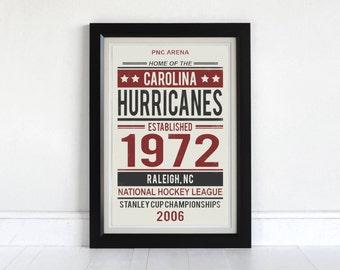 Carolina Hurricanes -Screen Printed Poster