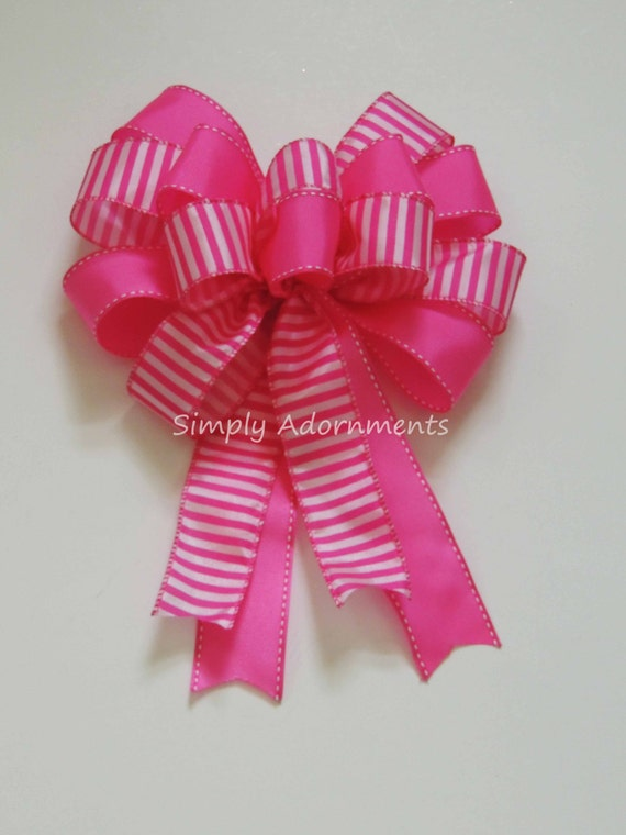 Pink White Wreath bow Pink Wedding Pew Bow Pink White Church Aisle Decor Pink White Bridal Shower Pink Birthday Party Decoration