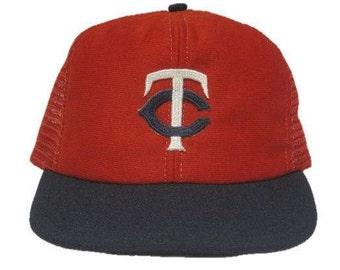 Vintage MLB Minnesota Twins baseball hat - snapback snap back style - Red, White, and Blue