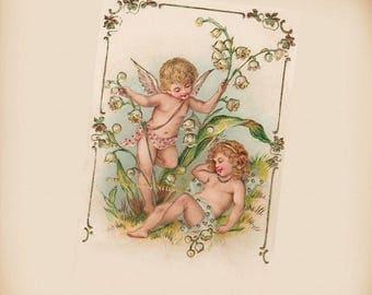 Two Love Cherubs - New 4x6 Photo Print - AN029