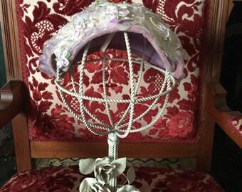 50s Lavender Floral Hat