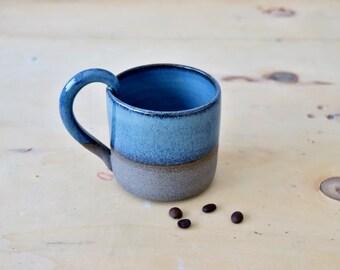 Ceramic Coffee Mug, Pottery Tea Mug, Ceramic Drinking Cup, Blue Ceramic Mug, Housewarming gift, Blue Large Mug, Unique mug