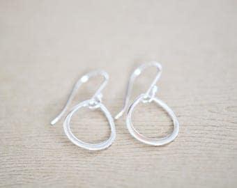 Teardrop Earrings - sterling silver teardrop earrings - silver drop earrings - gift for women