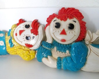 Retro Raggedy Ann and Andy Wall Decor