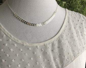 Chevron Pattern Necklace, Fishbone Pattern