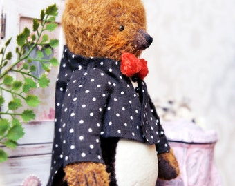 NEW PDF E-pattern for 8 inch Artist Teddy Bear San Sanich/ sewing instructions/ clothes outfit pattern/ Instant Download/ by Masha Kozlova