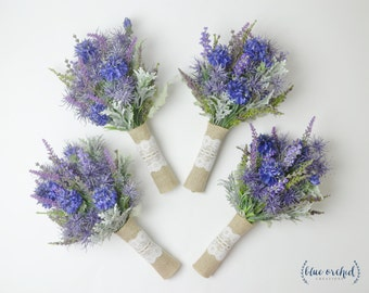Wildflower Bridesmaid Bouquets, Lavender Bouquets, Bridesmaid Bouquet, Small Bouquet, Rustic Bouquet, Woodland Wedding Bouquet, Blue