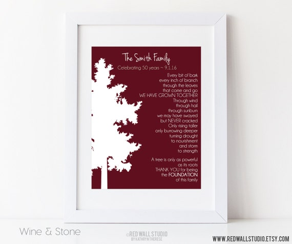 Unique Gifts 50th Wedding Anniversary : 30th 40th 50th Wedding Anniversary Gift - Personalized Gift for ...