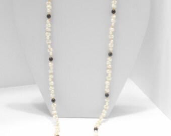 """Vintage 30"""" Faux Freshwater Pearl Necklace (4156)"""