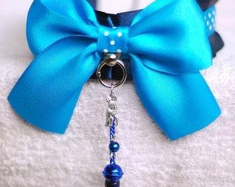 Blue cuteness - collar for pet play, age play, bdsm, ddlg, lolita