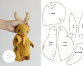 PDF Sewing Pattern & Tutorial Mohair Rabbit 9 Inches Stuffed Animal Pattern Plush Bunny Pattern Artist Teddy Bear Pattern For Women