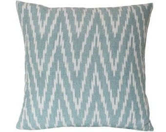 Schumacher Kasari Ikat Chevron Pillow Cover
