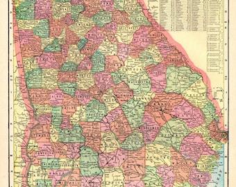 Georgia Map Etsy - Georgia state map
