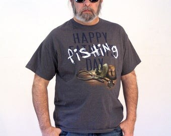 90s Fathers Day T-shirt, Fathers Fishing Day T-shirt, Fishing T-shirt, Fisherman T-shirt, Fisherman Gift Shirt, Fathers Day Gift, XL