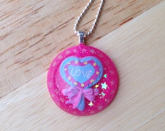 Heart Lollipop Necklace