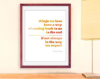 Luna Lovegood Print, Printable Luna Lovegood Quote, Printable Harry Potter Quote, Luna Lovegood Quote Wall Art, Printable Luna Art