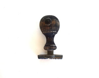 Vintage c. 1910 French Wood Handle Clerk / Office Rubber Stamp