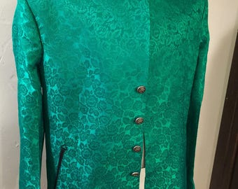 Men's green mandarin jacket - 42