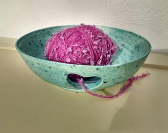 Ready to Ship - Pottery Yarn Bowl UK Knitting Bowl Handmade