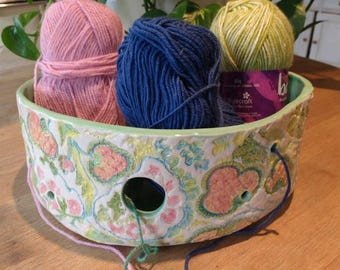 Extra Large/Huge Pottery Yarn Bowl UK Knitting Bowl - Handmade and Hand Painted - Ready to ship