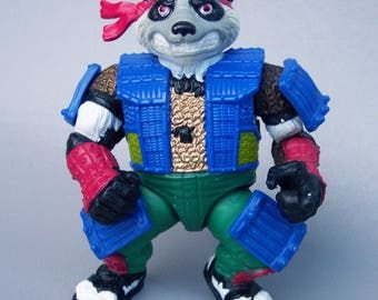 Vintage Teenage Mutant Ninja Turtles Panda Khan Figure C85 Near Mint
