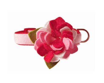 "Dog Collar Flower Accessory for 5/8"", 3/4"", 1"" or 1.5"" Dog Collar"