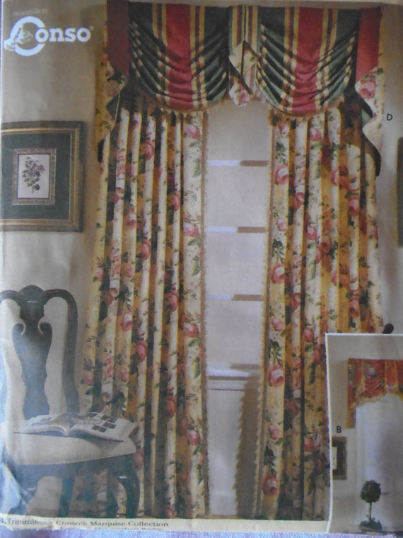 Vintage Simplicity Home Home Decor Pattern 8803 Valences And Panels Vintage Elegence In Fabric From Yesterdaysgold On Etsy Studio