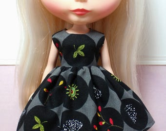 BLYTHE doll Its my party dress - dark botanical