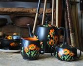 "Mid-Century Grimwades Royal Winston Ivory ""Countess"" England Tea Set"