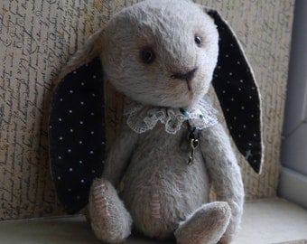 OOAK Artist Teddy Bunny Andrea/viscose / 7 inches tall/