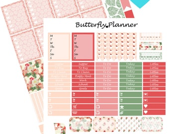 Roses Printable Planner Stickers, 2 Pages, Digital Download