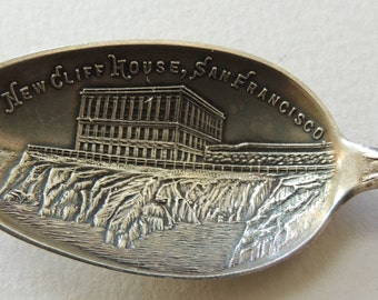Victorian New Cliff House San Francisco Sterling Souvenir Spoon