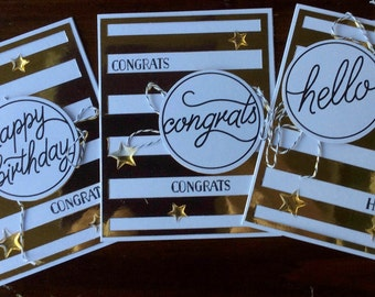 Birthday, Congratulations, Hello, Card Set, Gift Set, Handmade, stampin up