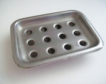 Vintage Vollrath Hospital Soap Dish-Stainless Steel