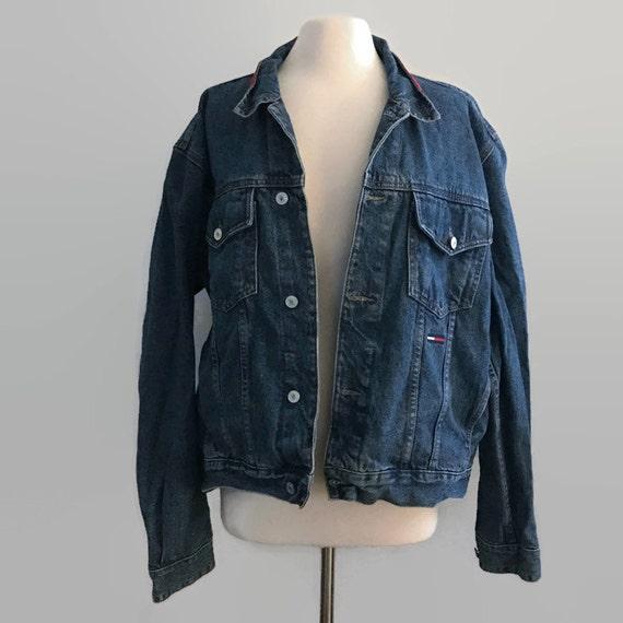 vintage 90s tommy hilfiger jacket vintage tommy hilfigier. Black Bedroom Furniture Sets. Home Design Ideas