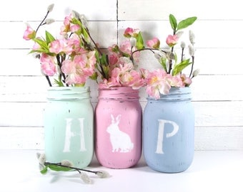 HOP, Easter Decor, Spring Decor, Cottage Chic Decor, Cute Home Decor, Rustic Home Decorations, Festive Home Decor, Easter Decorations