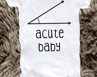 Acute baby onesie bodysuit, math nerd joke nerdy - baby boy onesie, baby girl onesie - Machine wash, dryer safe!