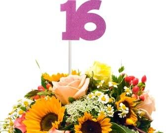 16th Birthday Centerpiece Stick, Sweet 16 Centerpiece Stick, 16th Birthday Party Decor, 16th Birthday Decoration, 16th Birthday Table Decor