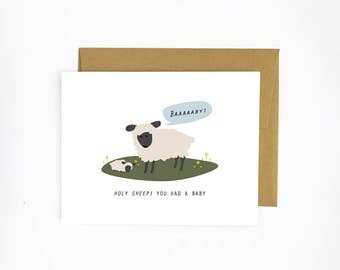Holy Sheep - Baby Card
