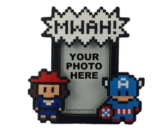 Captain America Picture Frame - Couples Picture Frame - Couples Photo Frame - Comic Book Wedding - Comic Book Anniversary