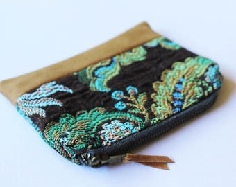 Boho Hippie Purse, Zipper Card Holder, Coin Purse, Change Pouch, coin pouch, Card Wallet, Zipper Pouch, Small purse, tobacco pouch, bohemian