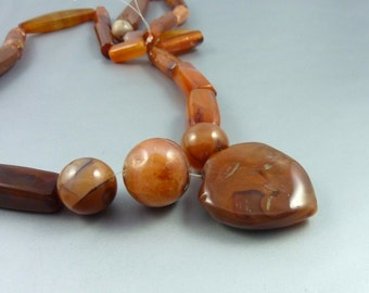 Antique carnelian beads collected in Mali, african jewelry, african trade beads, tribal necklace, carnelian ancient beads