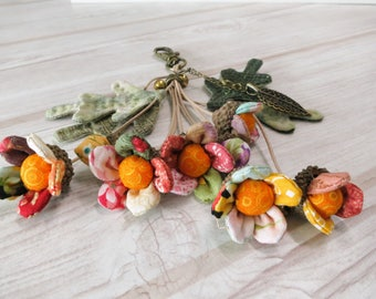 bag charm / key chain / flower bouquet from fabric / Moetaya *** In stock
