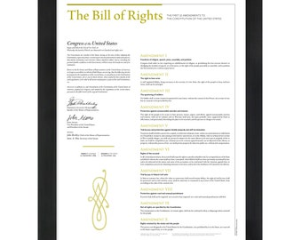 The Bill of Rights: An 18- by 24-inch print