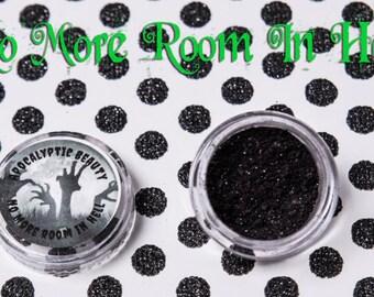 No More Room in Hell black vegan eyeshadow with red undertone
