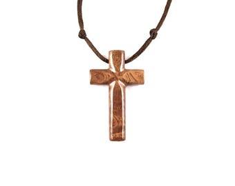 Wood Cross Necklace, Wooden Cross Pendant, Mens Cross Necklace, Mens Cross Pendant, Hand Carved Wood Cross Pendant, Christian Jewelry