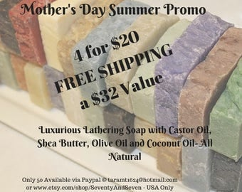 Mother's Day SPECIAL Coconut Oil Shea Butter Soap Super Promo