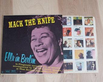 1960 Ella Fitzgerald on Vinyl - Mack the Knife Live in West Berlin with the Paul Smith Quartet - Vintage Vinyl LP