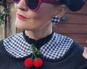 Gingham Earrings, C H E C...