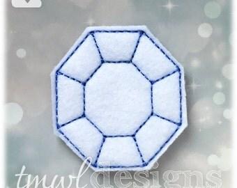 "Fantasy Tournament Diamond Badge Feltie Digital Design File - 1.75"""
